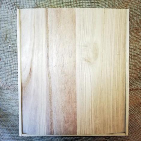 Caixa de fusta per a 3 vins